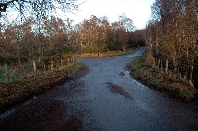 Road junction near Ryefield