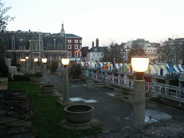 War memorial, and market, Norwich
