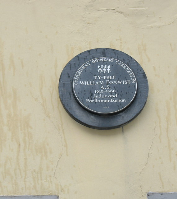 Plaque on the Town House of William Foxwist