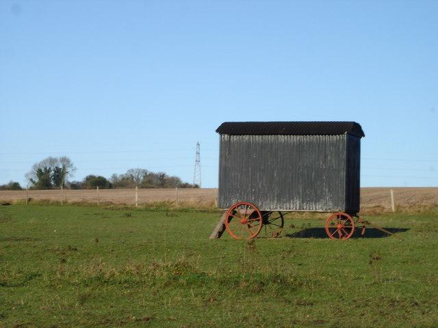 Old Caravan near Combe Bissett