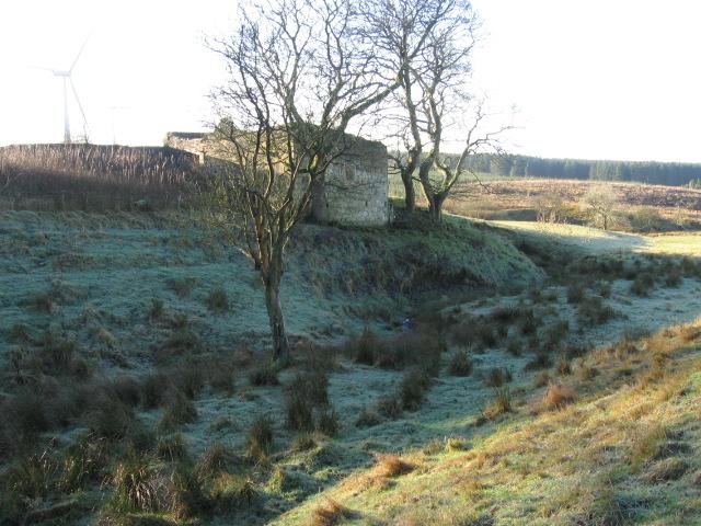 Auchterhead ruin beside Auchter Water