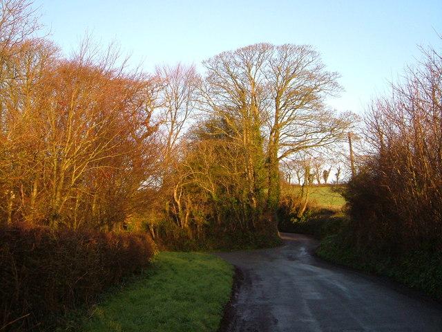 Junction near Wiverton