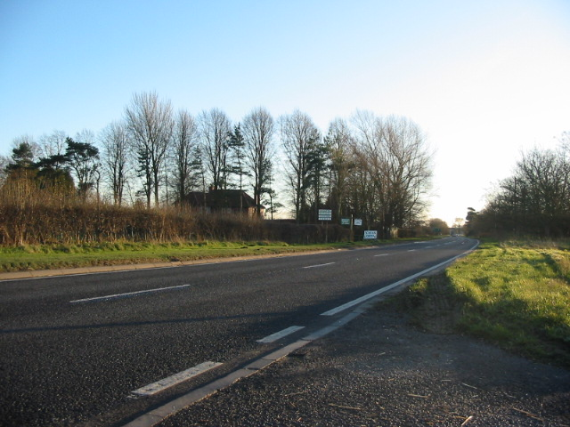 The A19 road north of Deighton