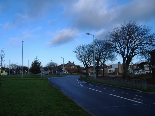 The roundabout at Harton Nook.