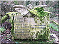 SN0735 : Mossy angel at St Mary's Church by ceridwen