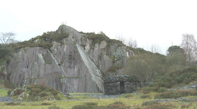 South Western section of the reclaimed Allt Ddu Quarry