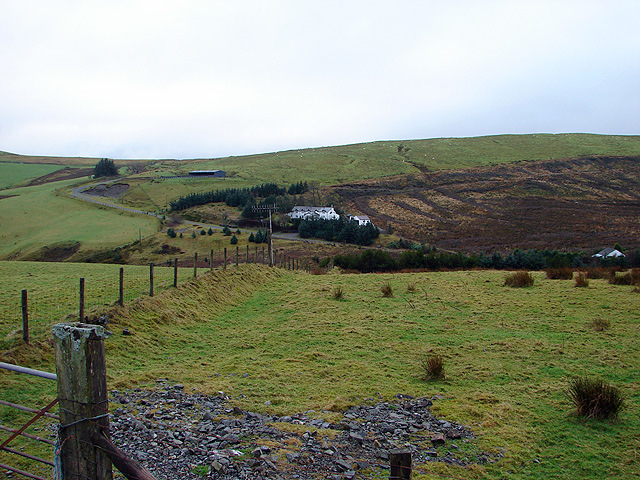 Farmland beside the Staylittle to Machynlleth Road