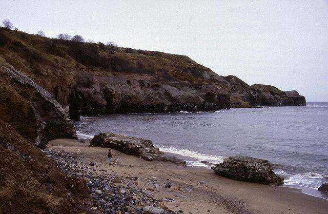 Beach at Sandsend towards the Ness