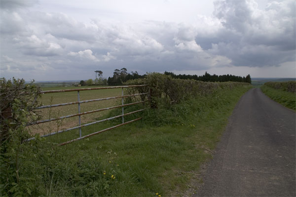 Road near North Barn Farm