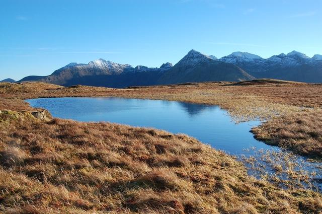 Lochan near the summit of Beinn a' Bhraghad