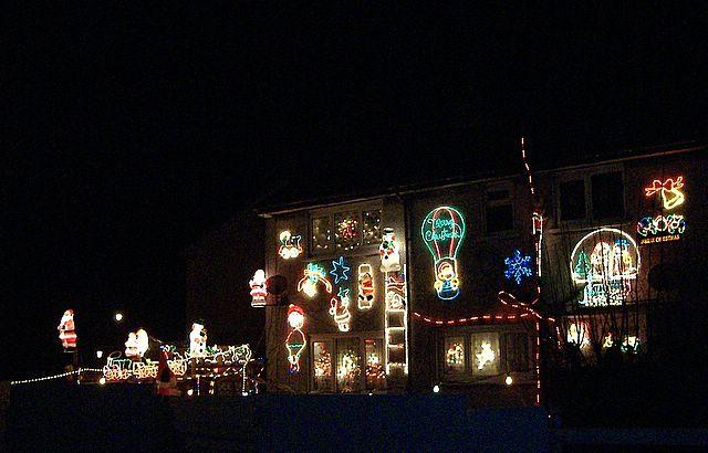 Christmas decorations, Ballasalla, Isle of Man