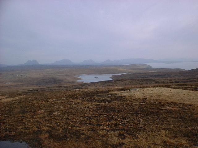 Loch Cul Fraioch from Stoer Trigpoint