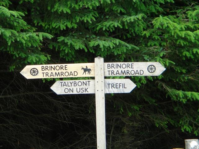 Road Sign near Trefil Quarries