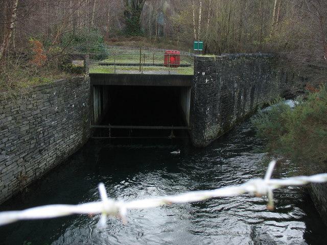 The confluence of Afon Hwch and Afon Nant Peris
