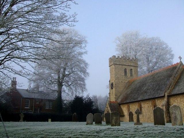 St James, Aston Abbotts on a frosty morning