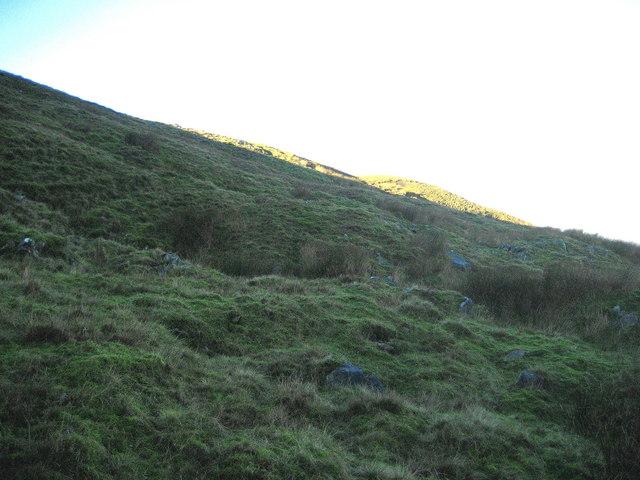 Steep terrain on Kirk Gill Moor