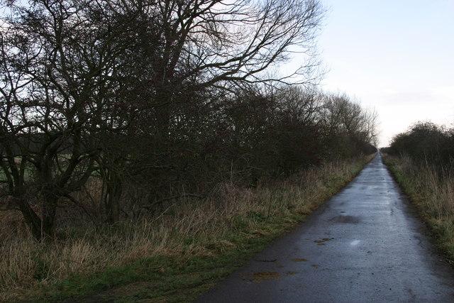 Track across Prestwick Carr