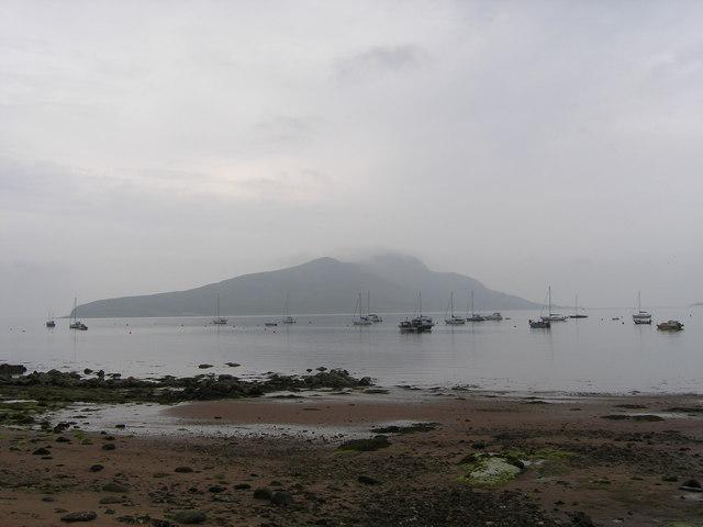 Holy Island across Lamlash Bay