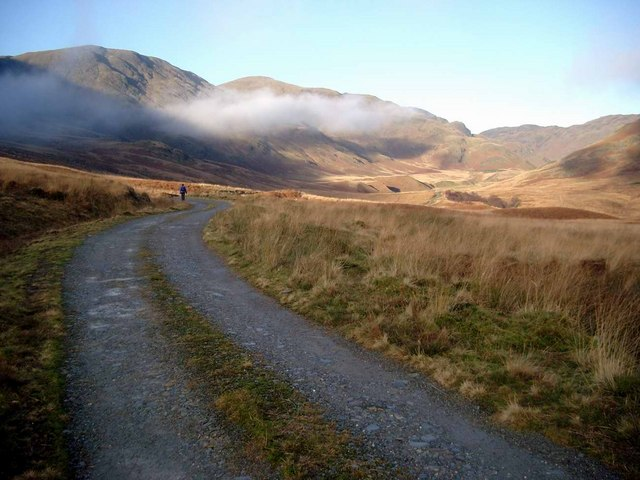 The track up the Srath a Ghlinne