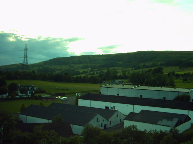 View of Auchentoshan Distillery from Mountblow