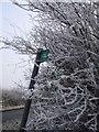 SP8723 : Signpost & Hoar Frost by Rob Farrow