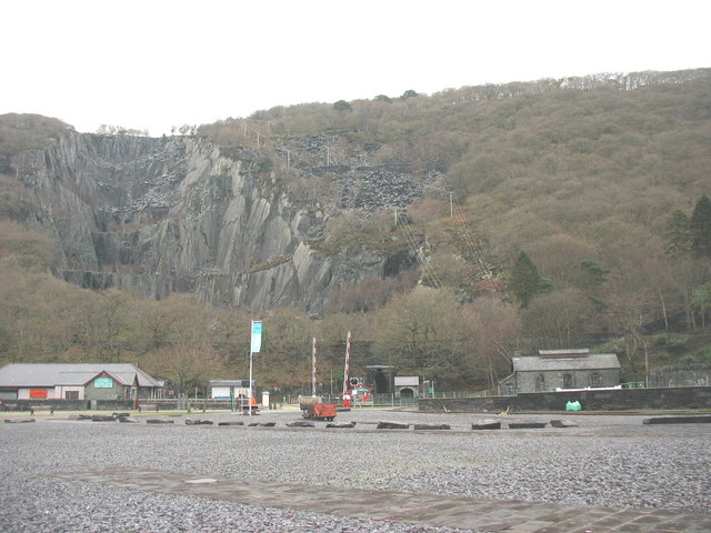 The former marshalling yard at Gilfach Ddu is now a car park
