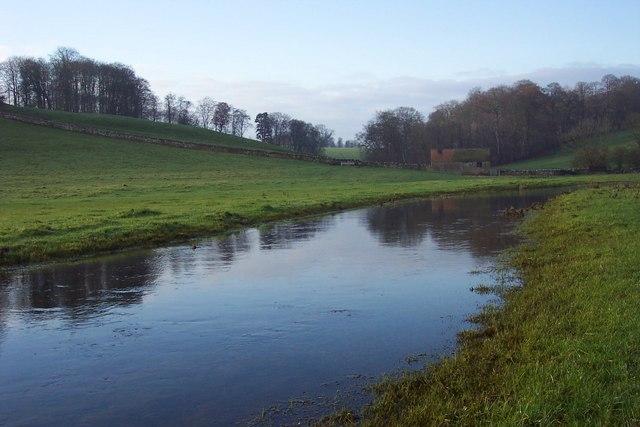The upper River Leach - close up