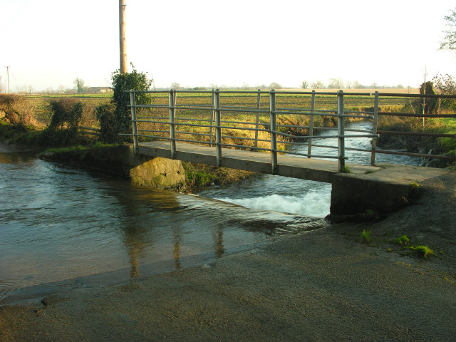 Ford near Maesbury after recent heavy rain