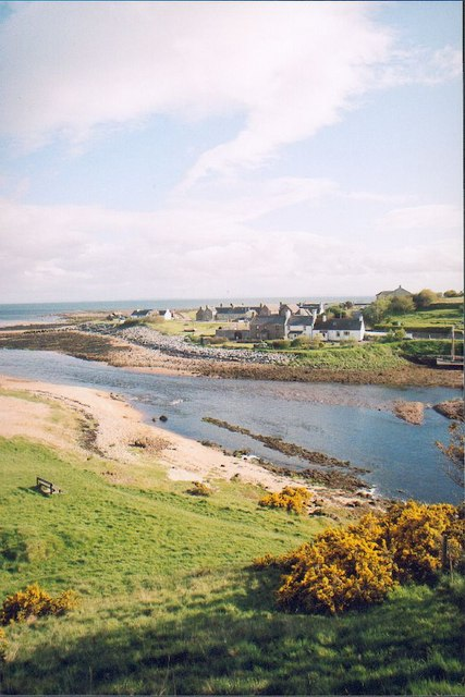 Brora rivermouth and harbour