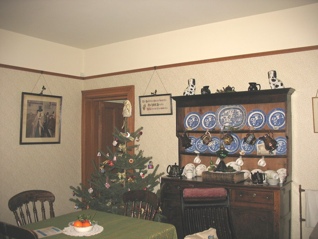 The living room of the chief engineer's house