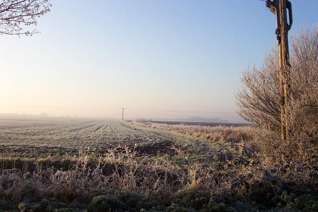 View across the frosty fields