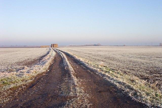 Track into farmland off the Twenty Foot Road