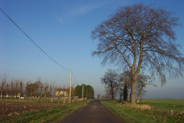 Approaching Inkley's Farm