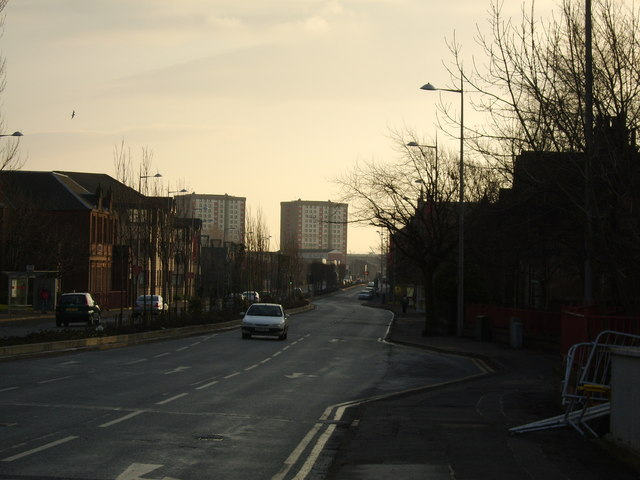 View along Glasgow Road, Clydebank