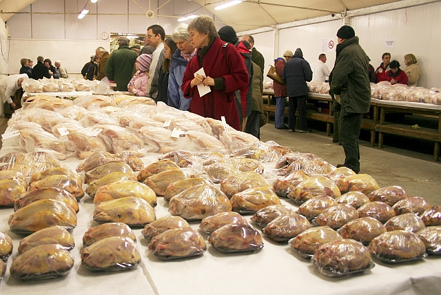 Ledbury Christmas Auction of Dressed Poultry