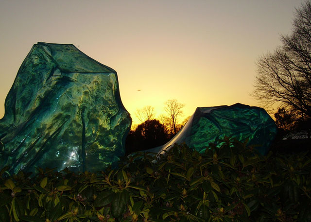 Chihuly glass crystals in Kew Gardens