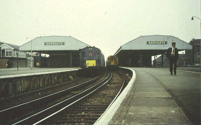 Trains meet at Ramsgate