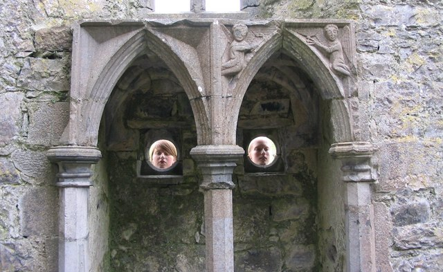 Rosserk Friary, two angels