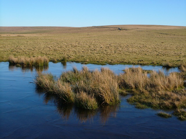 Small lake on Langstone Moor