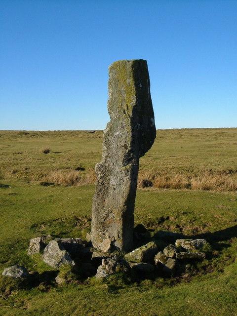 Standing stone, Langstone Moor