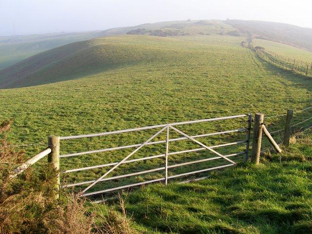 View along the Ridgeway towards Bronkham Hill