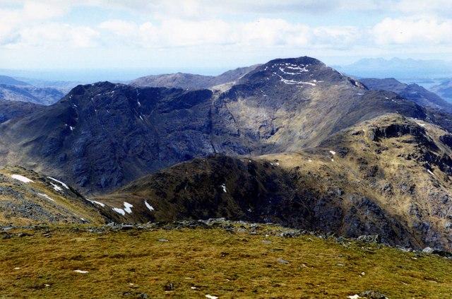 The ridge to Sgurr nan Coireachan