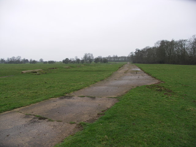 Wartime remains of Husbands Bosworth airfield.