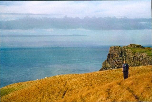 Clifftop path above Talisker Bay, Skye.