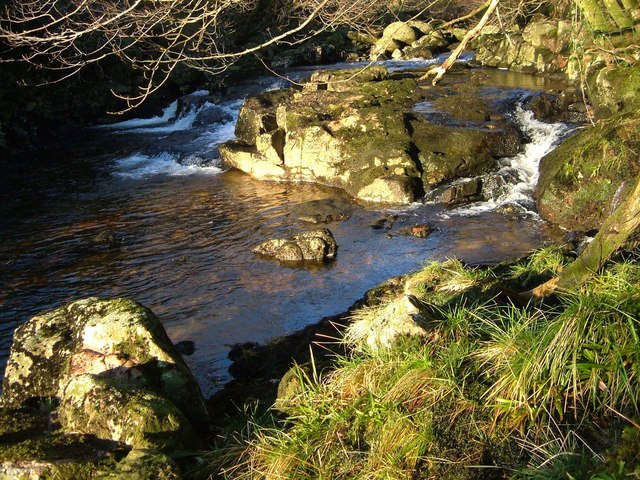 Rocks and rapids on the River Tavy