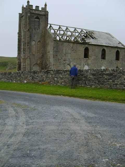 The ruins of the church at Kilchoman