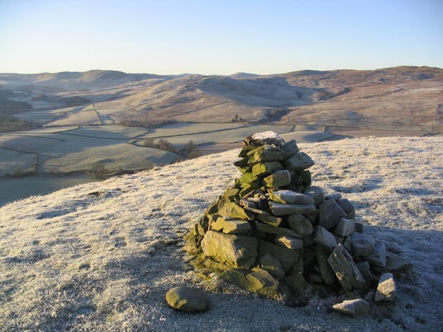 A cairn on Kirkhope Hill