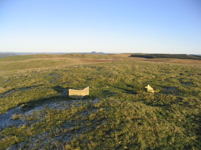 The summit of Hutlerburn Hill