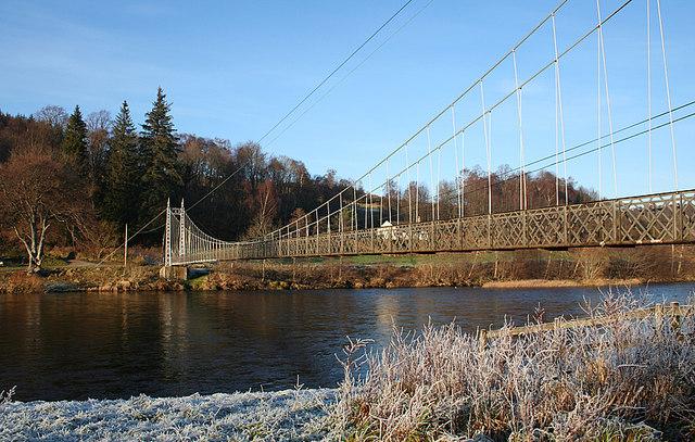 The Victoria Bridge crosses the Spey at Aberlour.