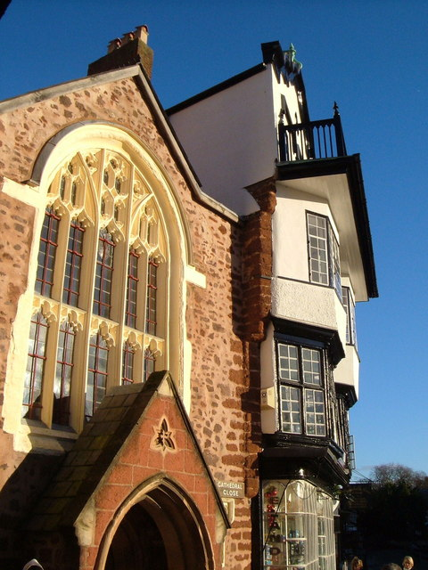 St Martin's Church & Mol's coffee house, Exeter